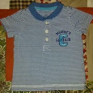 """Baby boys """"Mommy's Team Captain"""" shirt. 🏈⚾🏀"""